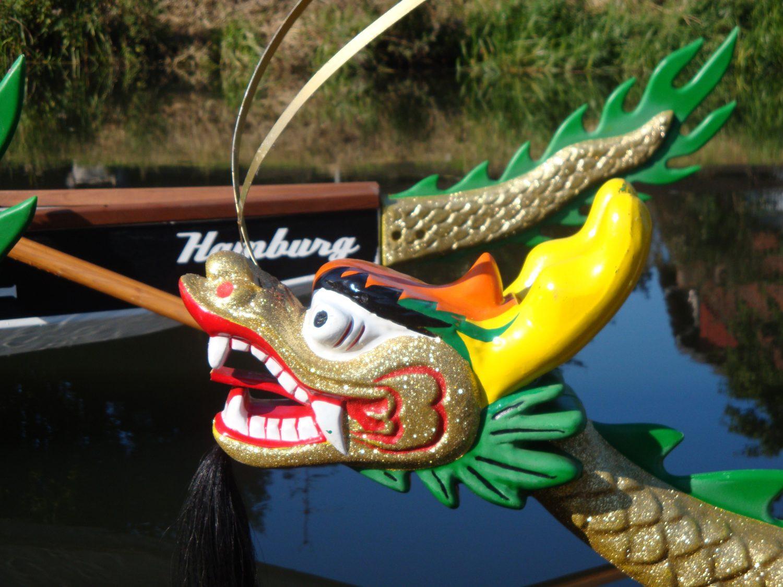 Drachenboote an der Alster