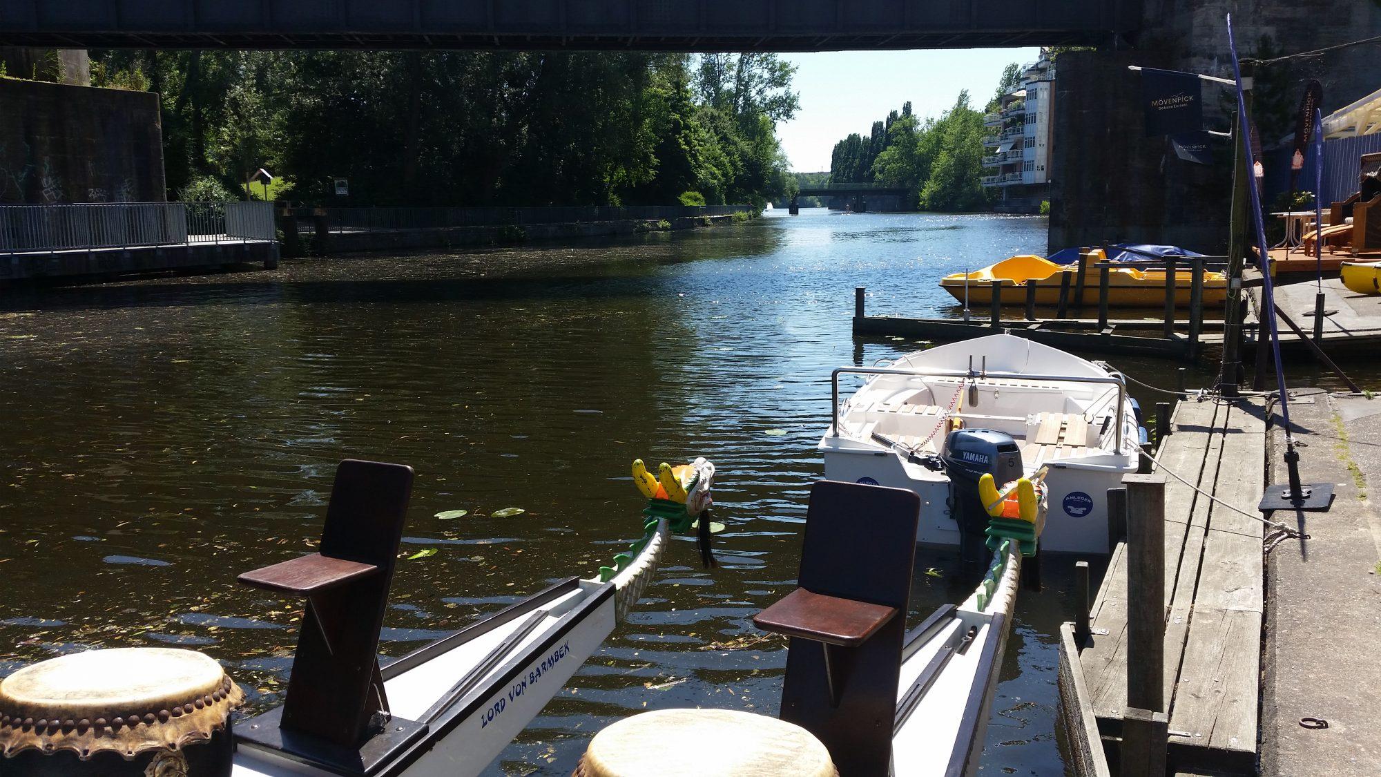 Geschichtsträchtiger Ort für den Drachenboot Sport.